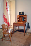 Fort Richardson Military Hospital officer's desk. Visitors may tour the original hospital building from the days when Fort Richardson in Texas was a military Royalty Free Stock Images