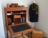 Fort Richardson Military Hospital officer's desk Stock Image