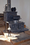 Fort Richardson Military Hospital stove. Visitors may tour the original hospital building from the days when Fort Richardson in Texas was a military outpost Royalty Free Stock Photos