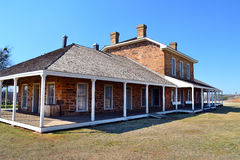 Fort Richardson Military Hospital. Visitors may tour the original hospital building from the days when Fort Richardson in Texas was a military outpost guarding Royalty Free Stock Photos