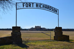 Fort Richardson Military Hospital. Visitors may tour the original hospital building from the days when Fort Richardson in Texas was a military outpost guarding Royalty Free Stock Photo