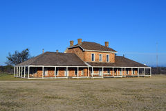 Fort Richardson Military Hospital. Visitors may tour the original hospital building from the days when Fort Richardson in Texas was a military outpost guarding Royalty Free Stock Photography