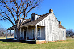 Fort Richardson Officer Quarters. Visitors may tour the original buildings from the days when Fort Richardson in Texas was a military outpost guarding settlers Stock Photography