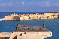 Fort Rinella and war memorial,Valetta Malta Stock Image