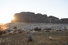 Fort Rock in rural South Central Oregon stock photo