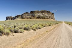 Fort Rock State Park 5. Photo of the blown out crater of Fort Rock State Park, near Bend, Oregon, USA stock photos