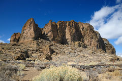 Fort rock in Washington Stock Images