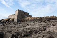Fort on the rocks Royalty Free Stock Photography