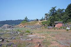 Fort Rodd. Grounds of Fort Rodd, Vancouver Island Royalty Free Stock Images