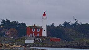Fort Rodd lighthouse royalty free stock photos