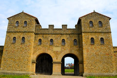 Fort romain d'Arbeia, boucliers du sud, Angleterre Photographie stock