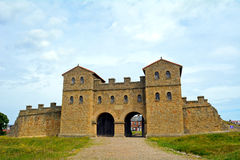 Fort romain d'Arbeia, boucliers du sud, Angleterre Image stock