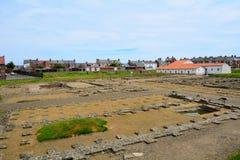 Fort romain d'Arbeia, boucliers du sud, Angleterre Image libre de droits