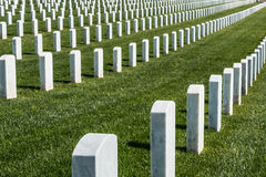 Fort Rosecrans National Cemetery Tombstones Stock Image