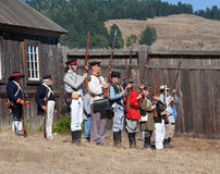 Fort Ross Bicentennial Weekend. Shooting. Stock Images
