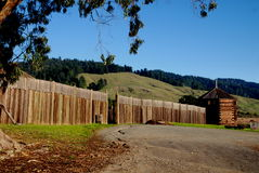 Fort Ross, CA: Historisches Fort Ross Stockbilder