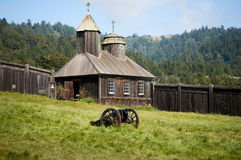 Fort Ross Californië. royalty-vrije stock foto