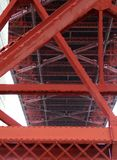 Fort Point, San Francisco: Metal Structure Golden Gate Bridge befogged royalty free stock photos