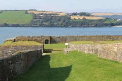 Fort ruin. Guard fort ruin in ireland Stock Photo