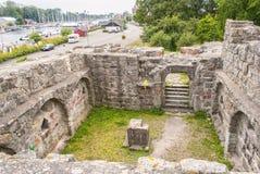 Fort ruina w Ahus Zdjęcie Stock