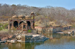 Fort ruins. In Ranthambhore fort, Rajashthan, India Stock Photos