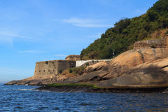 Fort São João, Rio de Janeiro, Brasilien lizenzfreie stockbilder