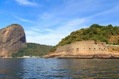 Fort São João und Sugarloaf, Rio de Janeiro Lizenzfreies Stockbild