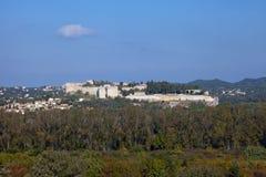 Fort Saint-Andre (1380) in Villeneuve-les-Avignon, France Royalty Free Stock Image