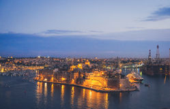 Fort Saint Angelo Valletta at dusk. Malta. Fort Saint Angelo Valletta at dusk. Malta, Europe Royalty Free Stock Image