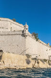 Fort Saint Angelo in Vittoriosa (Birgu), Malta, as seen from the Royalty Free Stock Photo