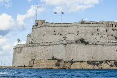 Fort Saint Angelo in Vittoriosa (Birgu), Malta, as seen from the Stock Photography
