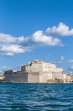 Fort Saint Angelo in Vittoriosa (Birgu), Malta, as seen from the Royalty Free Stock Photo