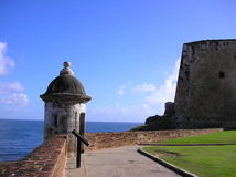 Fort Saint Cristobal. A picture of Fort Saint Cristobal in San Juan, Puerto Rico. The fort overlooks the Caribbean Sea royalty free stock image