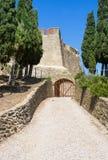 Fort Saint Elme, Collioure along Mediterranean Sea, Languedoc-Roussillon, France Royalty Free Stock Photo