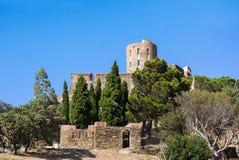 Fort Saint Elme, Collioure along Mediterranean Sea, Languedoc-Roussillon, France Stock Photo