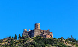 The Fort Saint- Elme, historical castle between Collioure and Port Vendres, Southern France Stock Photography