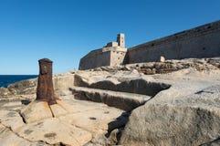 Fort Saint Elmo Malta. Fort Saint Elmo and rocky coast in Valletta Malta Stock Photos