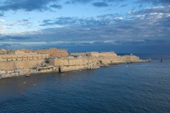 Fort Saint Elmo - Valletta waterfront - Malta. Mediterranean sea Royalty Free Stock Photo