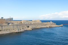 Fort Saint Elmo - Valletta waterfront - Malta. Mediterranean sea Royalty Free Stock Images