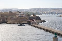 Fort Saint Elmo - Valletta waterfront - Malta. Mediterranean sea Royalty Free Stock Image