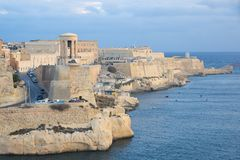 Fort Saint Elmo - Valletta waterfront - Malta. Mediterranean sea Stock Photos