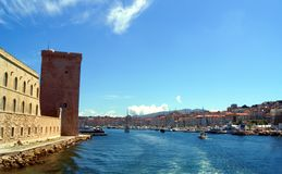 Fort Saint-Jean at the Entrance of Vieux Port. (old port) in Marseille, France Royalty Free Stock Photography