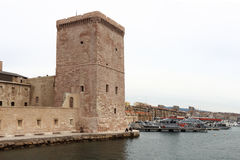Fort Saint-Jean in Marseille, France stock image