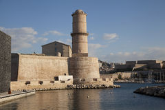 Fort Saint Jean in Marseille, France. Tower of Fort Saint Jean in Marseille old port, France Stock Images