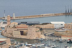 Fort Saint-Jean of Marseille, Mediterranean, France royalty free stock image