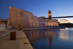 Fort Saint Jean in Marseille. Old port, France Stock Image