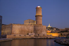 Fort Saint Jean in Marseille. Tower of Fort Saint Jean in Marseille old port, France Royalty Free Stock Photography