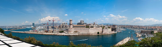 Fort Saint-Jean and old port in Marseille Royalty Free Stock Photography