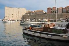 Fort of saint John and old port. Dubrovnik. Croatia Royalty Free Stock Photos