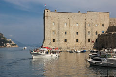 Fort of saint John and old port. Dubrovnik. Croatia Royalty Free Stock Image